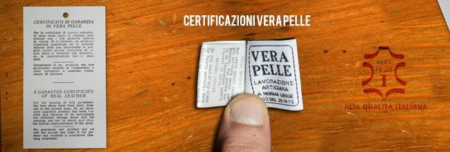 certificazioni vera pelle - etichette e cartellini